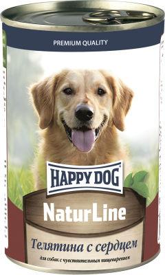 Корм для собак Happy Dog Телятина с сердцем 410г
